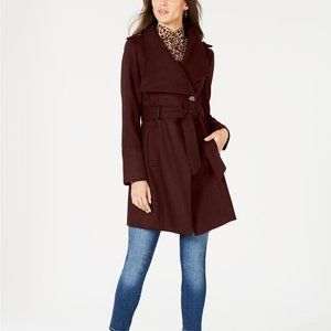 NWOT Guess Asymmetrical Belted Wrap Coat